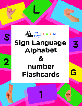 Signing Alphabet and Numbers flashcards
