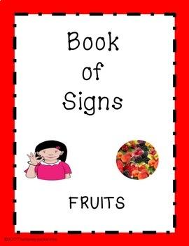 ASL Signing Book Set Fruits