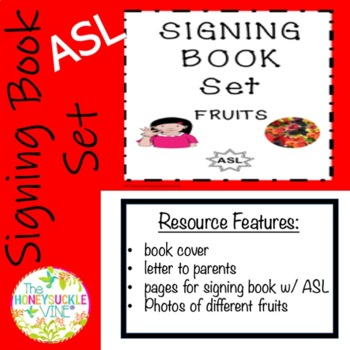 ASL Signing Book Set Fruits