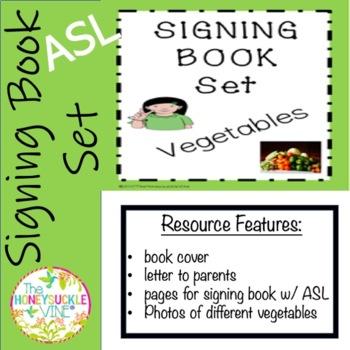 ASL Signing Book Set Vegetables