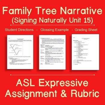 Signing Naturally Unit 15 Expressive Assignment: Family Tree Narrative