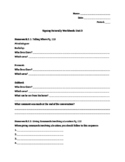 Signing Naturally Unit 3 Workbook Packet