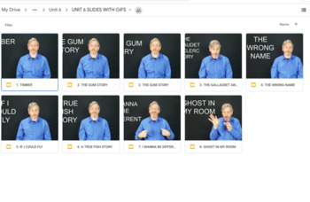 Signing Naturally Unit 6 GOOGLE SLIDES with gifs