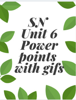 Signing Naturally - Unit 6 Vocabulary Power Points