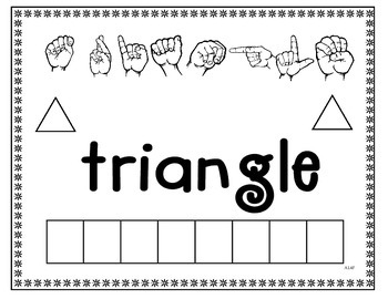Sign language Spell the Word Shape Sheets