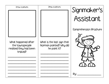 Signmaker's Assistant Journey's Activities - Second Grade Lesson 19