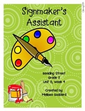 Signmaker's Assistant : Reading Street : Grade 2