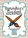 """""""Signmaker's Assistant"""" (Reading Street Resource)"""