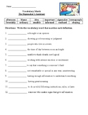 Signmaker's Assistant Selection test, vocab, guided readin