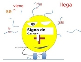 Signo de suma y palabras claves