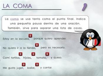 Signos de Puntuación / Punctuation Marks Spanish PowerPoint
