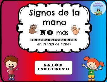 Signos de la mano_Estrategia de modificación conductual_hands signals ESPAÑOL
