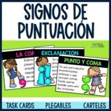 Signos de puntuación /Spanish Punctuation Marks Task Cards