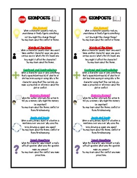 Signpost Bookmarks/Notebook Resource