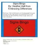 Signs Bingo