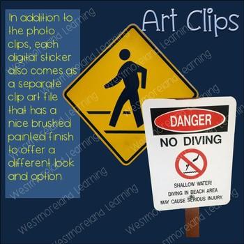 Signs Clip Art Photo & Artistic Digital Stickers