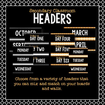 Signs & Headers for the Secondary Classroom
