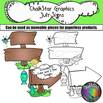 Signs July Clip Art –Chalkstar Graphics