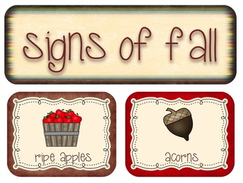 Signs Of Fall--A Mini Science Unit