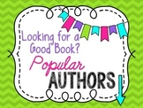 Signs: Popular Author labels for baskets