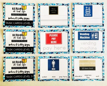 Signs Task Cards {Reading in Real Life}