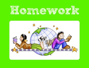 Signs for Homework, Lunch, and Rainy Day