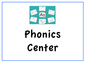 Signs for Literacy Centers