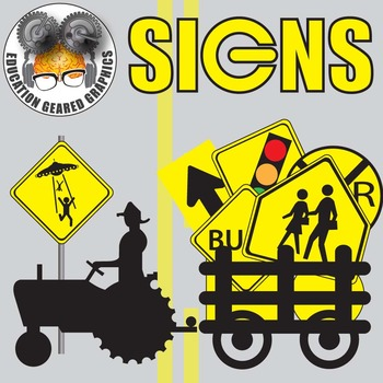 Signs for classroom and commercial use.