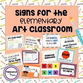 Signs for the Elementary Art Classroom