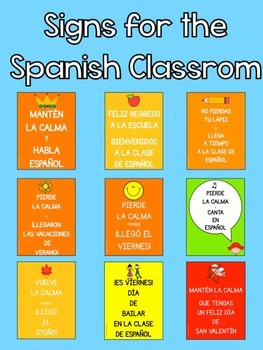 Signs for the Spanish Classroom {Freebie}