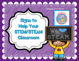 Signs for your STEM / STEAM Classroom