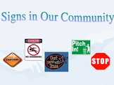 Signs in Our Community PPT and Sort
