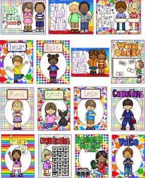 Signs of All Sorts-Posters for Manners, Subjects, 6 Traits, 5 Senses, and More
