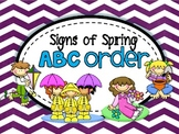 Signs of Spring {ABC Order}