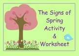 Signs of Spring Activity & Worksheet
