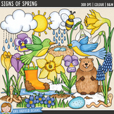 Signs of Spring Clip Art