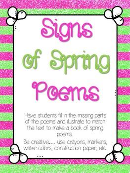 Signs of Spring Poem Book