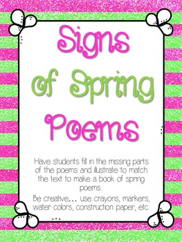 Signs of Spring Poem Book