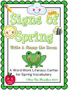 Signs of Spring Write / Stamp the Room Activity Pack