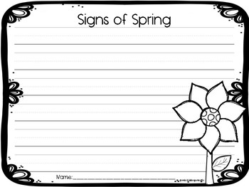 Signs of Spring Writing