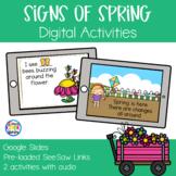 Signs of Spring Digital Activities | Google Slides & SeeSaw