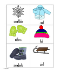 Signs of Winter Vocabulary Cards