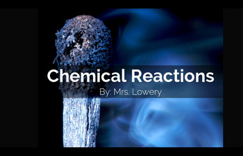 Signs of a Chemical Change Guided Notes