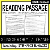Signs of a Chemical Change Reading Passage