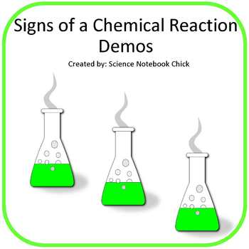 Signs of a Chemical Reaction Demos