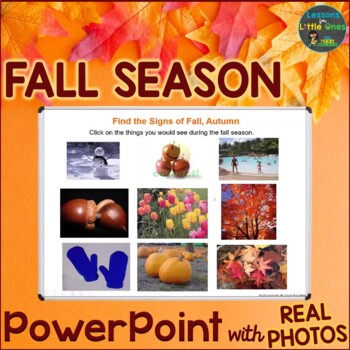 signs of the fall autumn season powerpoint presentation tpt