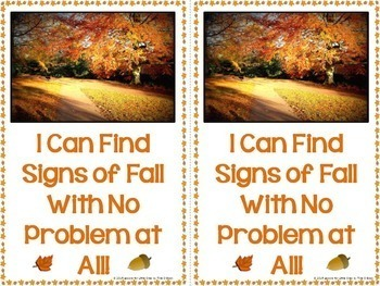 Signs of the Fall Season PowerPoint & Differentiated Emergent Reader Bundle