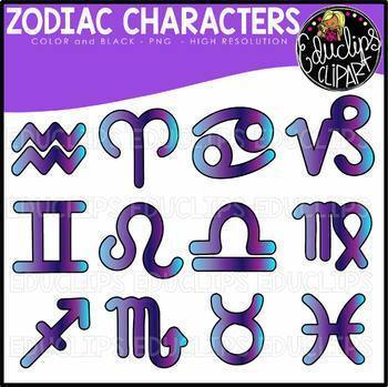 Signs of the Zodiac Clip Art Collection {Educlips Clipart}
