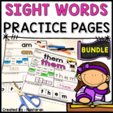 Sight Words Worksheets - High Frequency Words Practice and Assessments