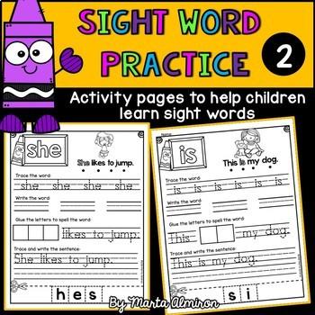 Sigth Word Practice  {Volume 2}